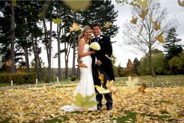 Image of Couple with leaves