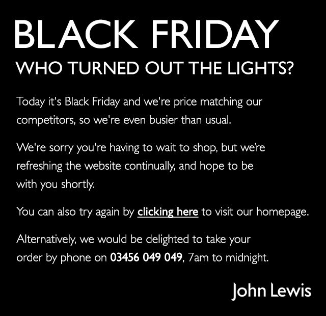Black Friday - Who turned the lights out?
