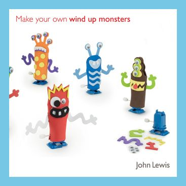 John Lewis Make Your Own Wind Up Monsters Kit