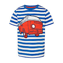 John Lewis Boy Stripe Campervan T-Shirt, Blue, £10.00 - £12.00