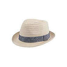 John Lewis Trilby Hat, Natural, £10.00