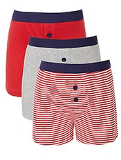 John Lewis Boy Plain And Stripe Boxers, Pack of 3, £8.50 - £10.50