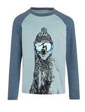 John Lewis Boy%27s Polar Bear Ski Top,<br>£18 - £20