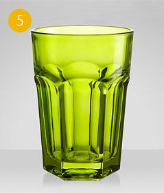 House by John Lewis Gibraltar Highballs, Green