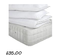 John Lewis Super Sleep Duvet and Pillows Set, 10.5 Tog £25.00- 40.00