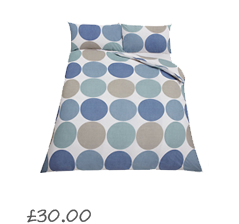 John Lewis Value Spot and Stripe Pack of 2 Duvet Cover Sets , Blue £20.00- 40.00