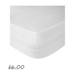 John Lewis Value Combed Polycotton Fitted Sheets , White £4.50- 7.00