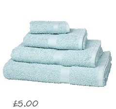 John Lewis Value Cotton Towels , Duck Egg £0.45- 5.95