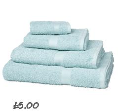 John Lewis Value Cotton Towels , Duck Egg £0.45- 5.95