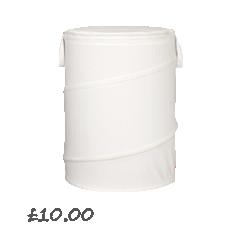 Cotton Pop-Up Laundry Hamper, Bone, Small £10.00