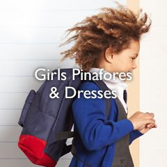 Girls pinafores and dresses
