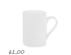 John Lewis Value Porcelain Mug, White £1.00