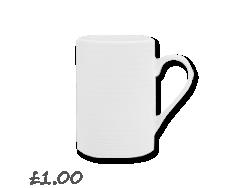 John Lewis Value Porcelain Mug, White £1.00