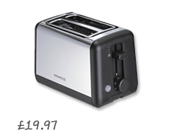 Kenwood TTM320 Toaster, 2-Slice, Polished Steel £19.97