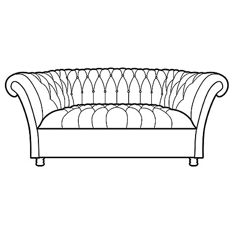 Buy John Lewis Cambridge Medium Leather Chesterfield Sofa, Outback Ranch Online at johnlewis.com
