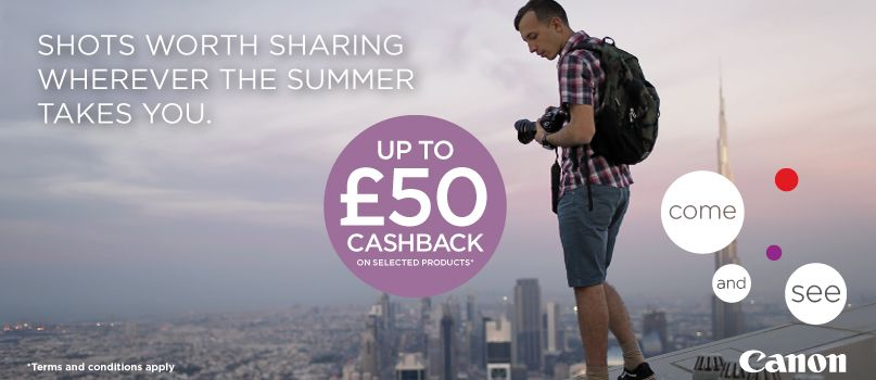 Shots worth sharing wherever the summer takes you. Up to £50 cashback on selected products