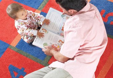 Carpet tiles in nursery