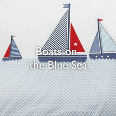 Boats on the Blue Sea