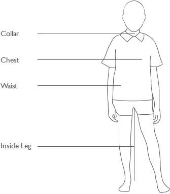 Boys schoolwear sizing guide