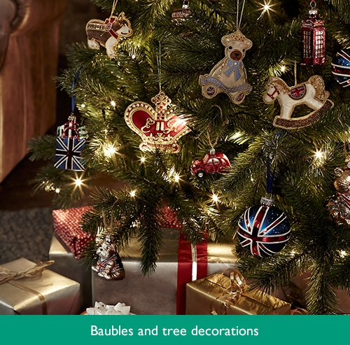 Baubles and tree decorations