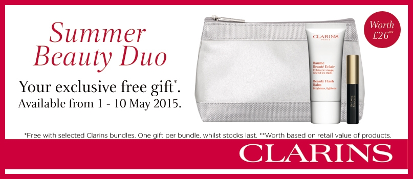 Clarins - Summer Beauty Duo Your exclusive free gift available from 1-10 May