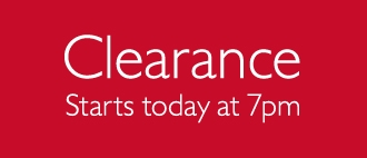 Clearance - starts Wednesday 19 June 7pm