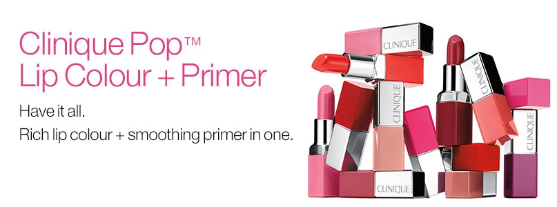 Clinique Pop Lip Colour + Primer. Have it all. Rich lip colour + smoothing primer in one.