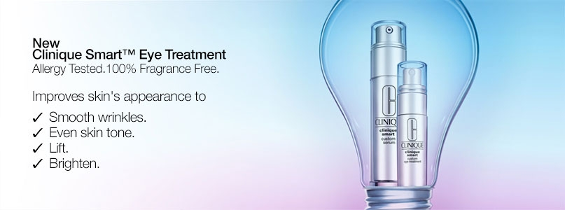 New Clinique smart eye treatment, allergy tested, 100% fragrance free.