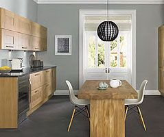 first collection - Capital oak finish kitchen