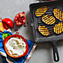 Buy Denby Imperial Blue Cast Iron Griddle Pan Online at johnlewis.com