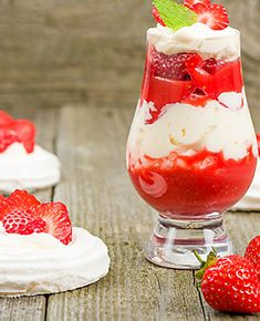 Summer Strawberry Eton Mess by Coole Swan