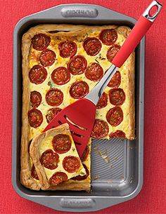 Roasted Tomato, Pepper and Basil Tart