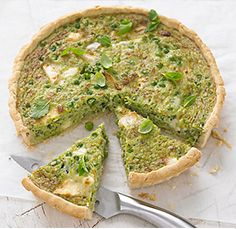 Pea, Goat's Cheese & Herb Tart