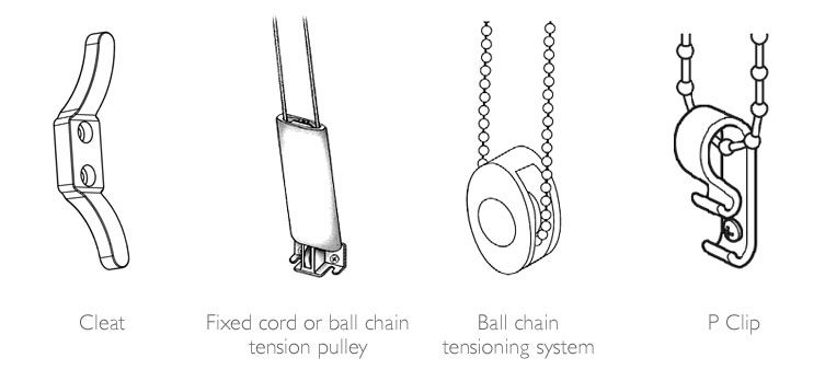 Images of different types of cords