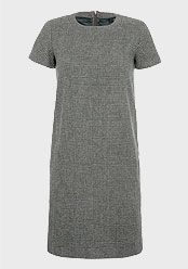Weekend by MaxMara Check Shift Dress, Dark Green, £225