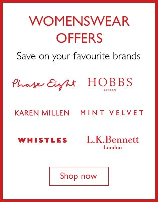 Womenswear Offers - Save on your favourite brands