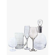 Buy Dartington Crystal Personalised Gabriola Font Glassware Online at johnlewis.com