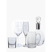 Buy Dartington Crystal Personalised Palace Script Font Glassware Online at johnlewis.com