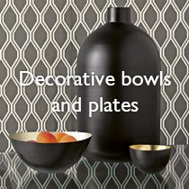 Decorative bowls and plates