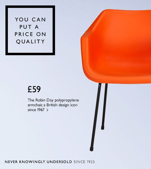 The Robin Day polypropylene armchair, a British design icon since 1967