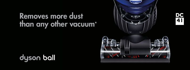 Removes more dust than any other vacuum*
