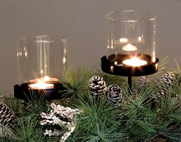 John Lewis Greenery 3 Pillar Candle Holder