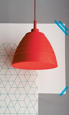House by John Lewis Ziggy Silicon Foldable Pendant, Red