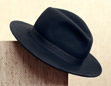John Lewis Fedora Hat With Grosgrain Ribbon, Black, £45.00