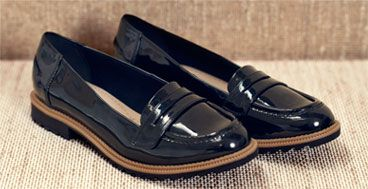 Clarks Griffin Milly Loafers, Black, £44.99 - £46.99