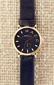 Marc by Marc Jacobs Women%27s Baker Leather Strap Watch, Black, £135.00 - £165.00