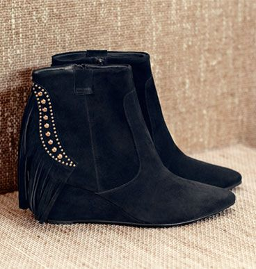 Collection WEEKEND by John Lewis Shot Tassle Detail Suede Boots, Black, £120.00