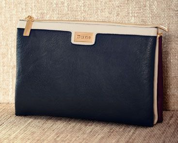 Dune Daisies Triple Pouch Clutch Bag, Berry, £55.00