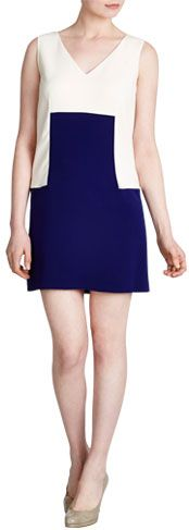 Tara Jarmon Colour Block Dress, Marine £217.00