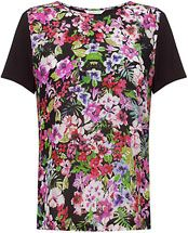 COLLECTION by John Lewis Floral Print Front Top, Multi